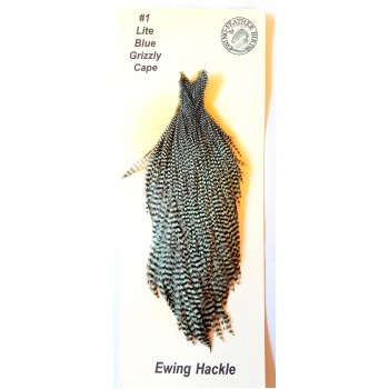 Hahnbalg Hackle Blau Grizzly
